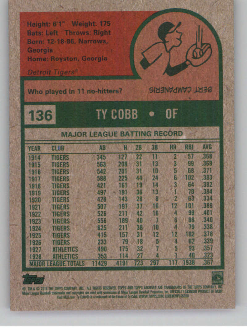 2019-Topps-Archives-Baseball-Singles-1-150-YOU-PICK-FROM-LIST miniature 271
