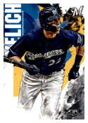 2019 Topps Fire #18 Christian Yelich NM-MT Milwaukee Brewers