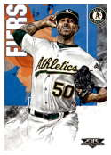 2019 Topps Fire #23 Mike Fiers NM-MT Oakland Athletics