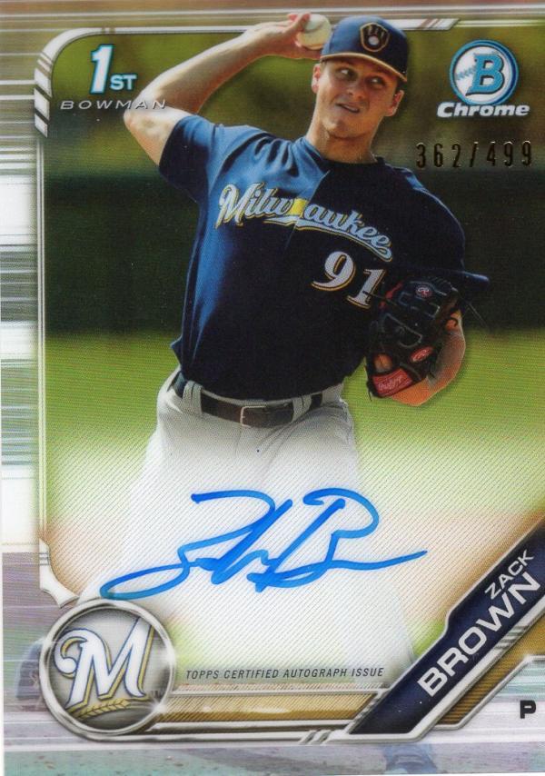 2019 Bowman Chrome Prospects Autographs Refractors