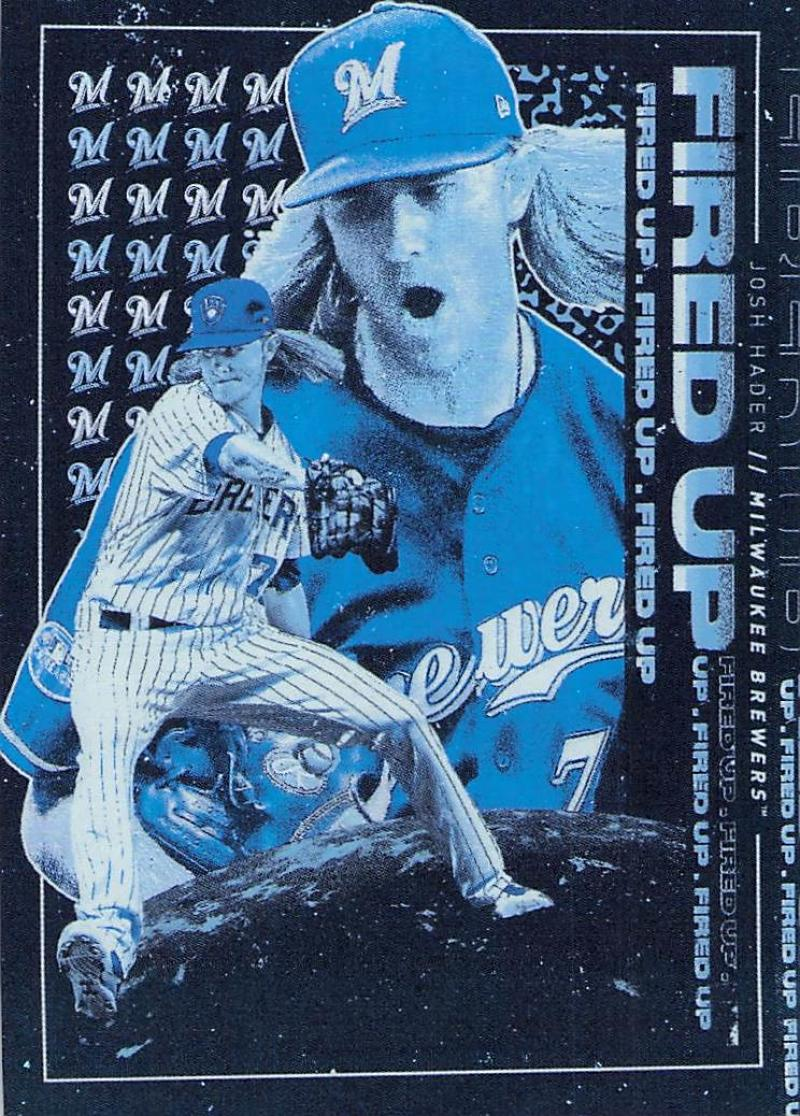 2019 Topps Fire Fired Up Blue Chip