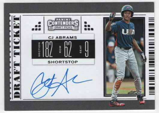2019 Panini Contenders Draft RPS Draft Ticket Autographs