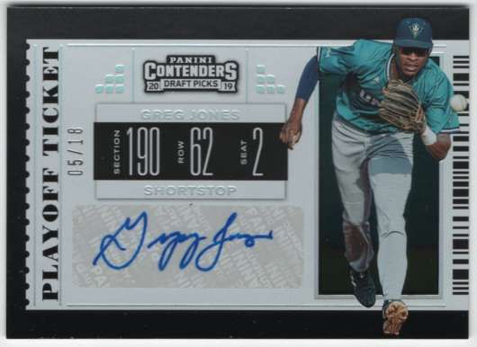 2019 Panini Contenders Draft Draft Ticket Autographs Playoff