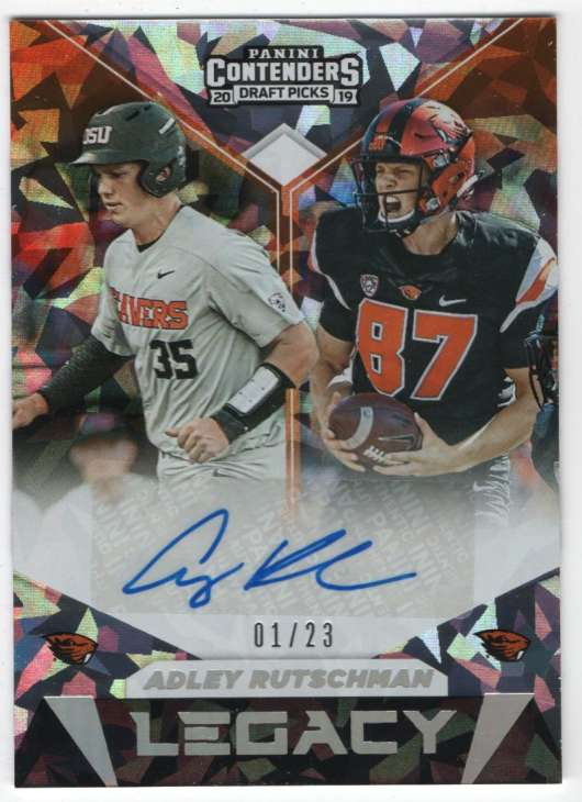 2019 Panini Contenders Draft Legacy Signatures Cracked Ice