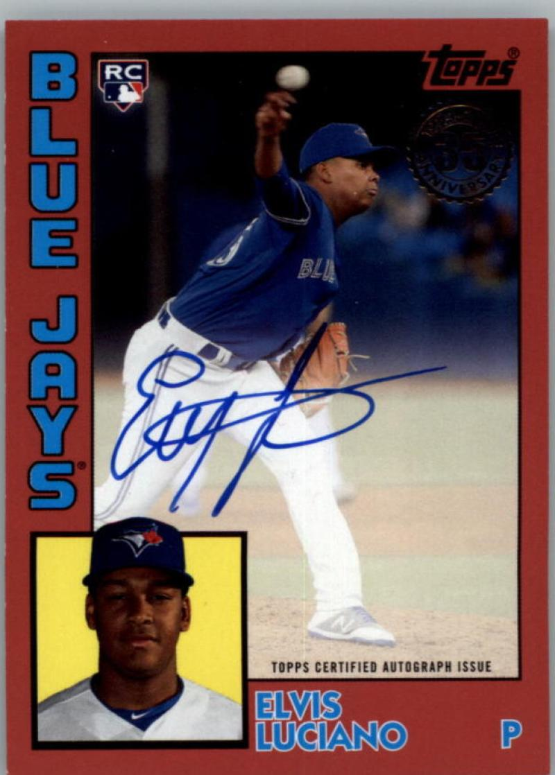 2019 Topps Update 1984 Topps Autographs Red