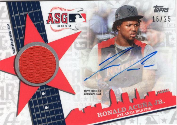 2019 Topps Update All-Star Stitches Autographs Red