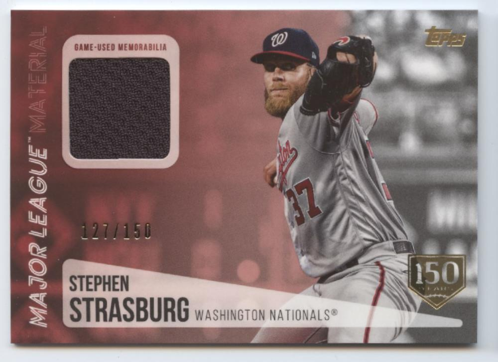 2019 Topps Update Major League Materials 150th Anniversary