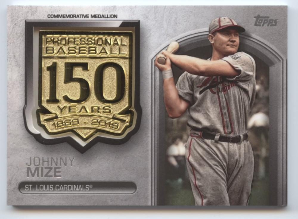 2019 Topps Update 150th Anniversary Manufactured Medallion Relics
