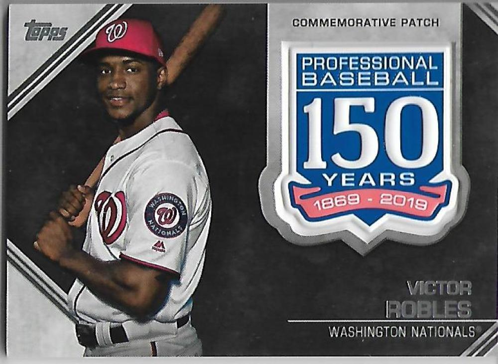 2019 Topps Update 150th Anniversary Manufactured Patch Relics