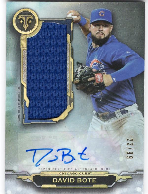 2019 Topps Triple Threads Autographed Single Jumbo Relics