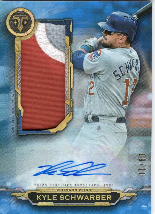 2019 Topps Triple Threads Autographed Single Jumbo Relics Sapphire