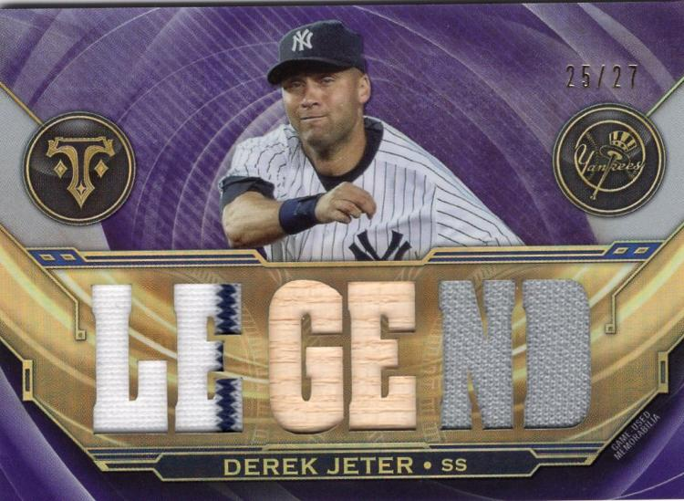 2019 Topps Triple Threads Relic Legends Amethyst
