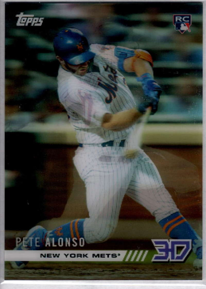 2019 Topps On Demand 3D Motion Baseball #4 Pete Alonso RC Rookie  New York Mets  Official MLB Trading Card Limited to under 600 made