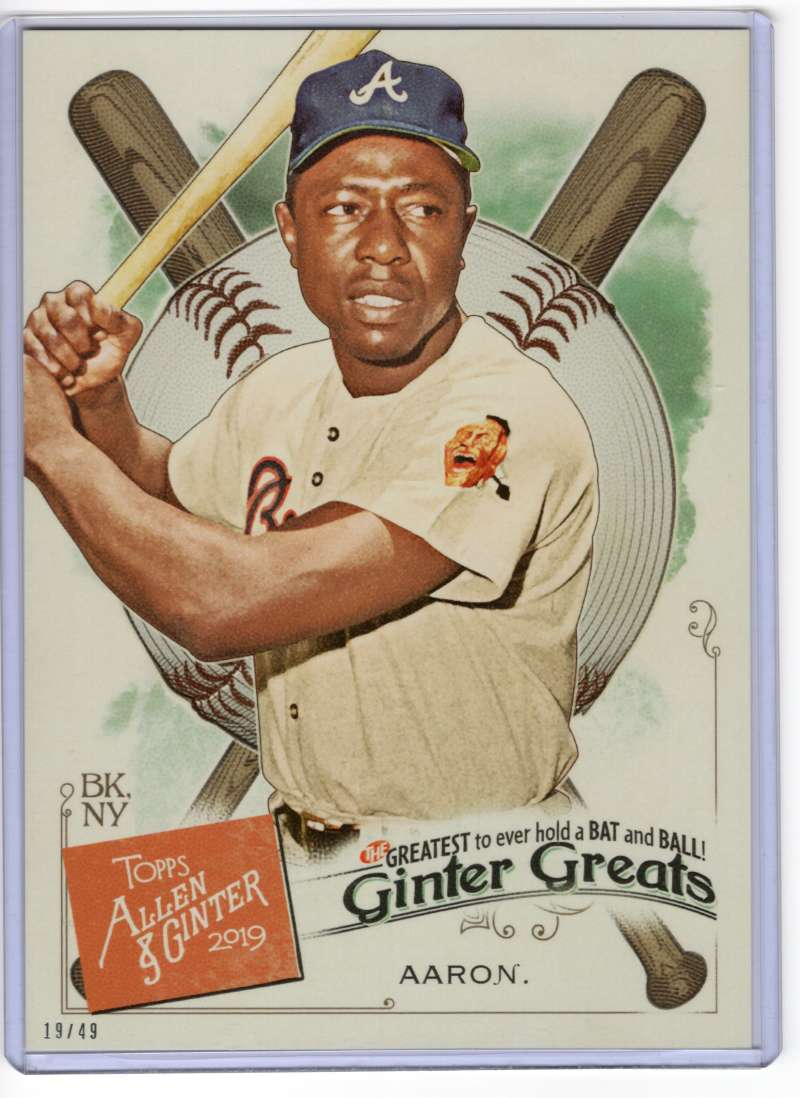2019 Allen and Ginter  Ginter Greats 5x7