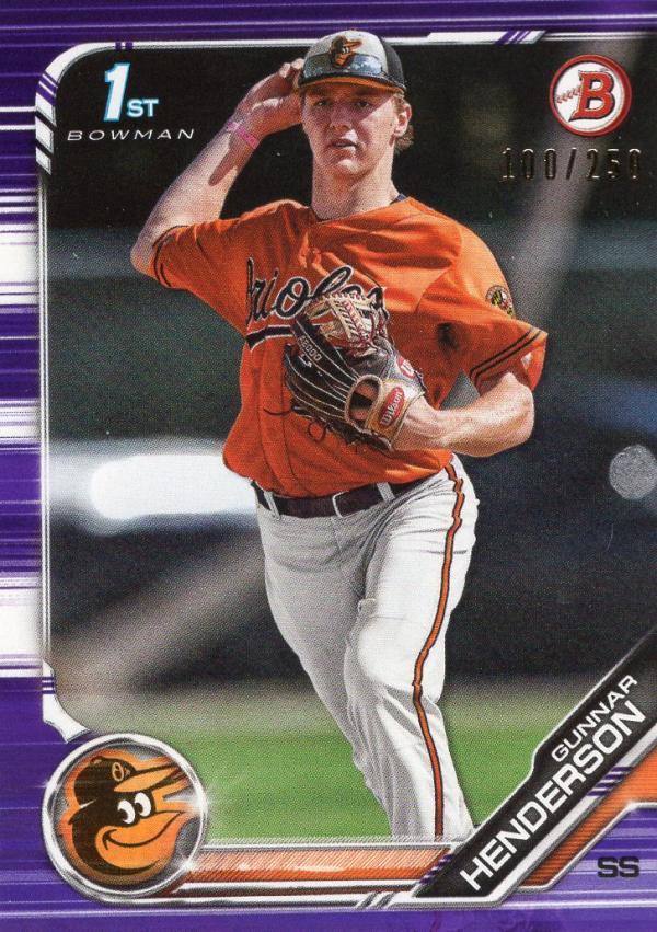 2019 Bowman Draft Purple