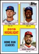 2020 Topps Throwback Thursday #15 Pete Alonso/Jorge Soler/Eugenio Suarez NM-MT New York Mets/Kansas City Royals/Cincinnati Reds