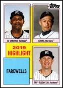 2020 Topps Throwback Thursday #16 Sabathia/Ichiro/Troy Tulowitzki NM-MT New York Yankees/Seattle Mariners