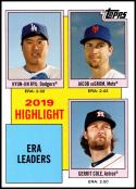2020 Topps Throwback Thursday #17 Hyun-Jin Ryu/Jacob deGrom/Gerrit Cole NM-MT Los Angeles Dodgers/New York Mets/Houston Astros