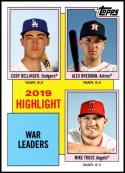 2020 Topps Throwback Thursday #18 Cody Bellinger/Alex Bregman/Mike Trout NM-MT Los Angeles Angels/Los Angeles Dodgers/Houston Astros