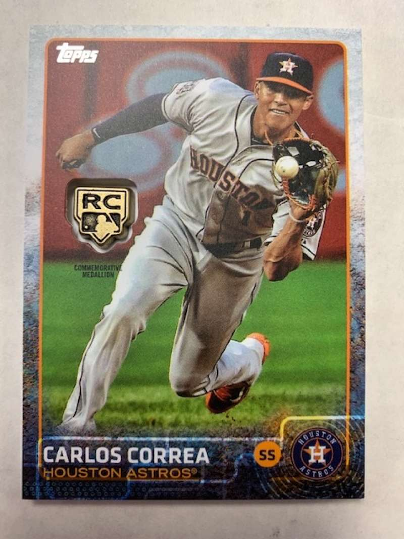 2020 Topps Retrospective Rookie Card Logo Medallion Relics #RCR-CC Carlos Correa MINT Houston Astros