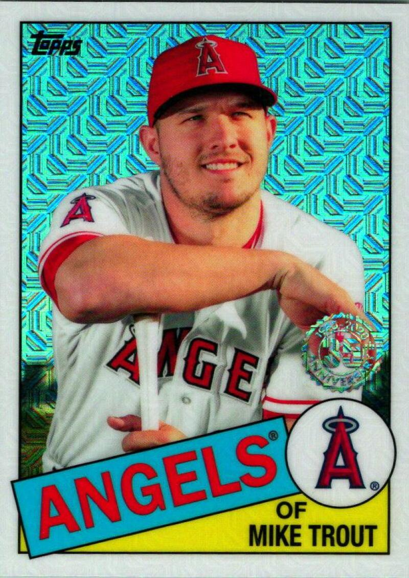 2020 Topps Series 1 1985 Chrome Silver Pack Refractor #85C-1 Mike Trout Los Angeles Angels  Official MLB Baseball Trading Card