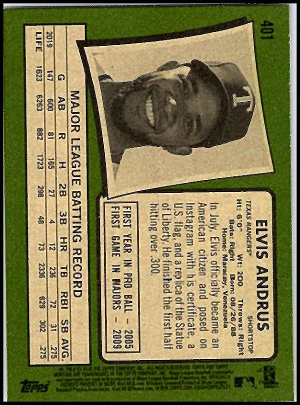 thumbnail 295 - 2020 Topps Heritage MLB Baseball Trading Cards Pick From List 251-500 W/Rookies