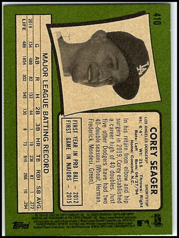 thumbnail 309 - 2020 Topps Heritage MLB Baseball Trading Cards Pick From List 251-500 W/Rookies