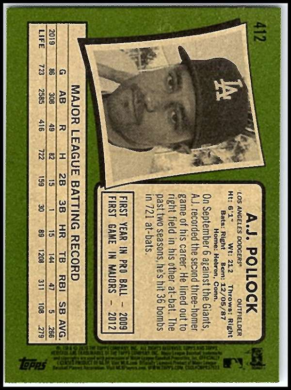 thumbnail 311 - 2020 Topps Heritage MLB Baseball Trading Cards Pick From List 251-500 W/Rookies