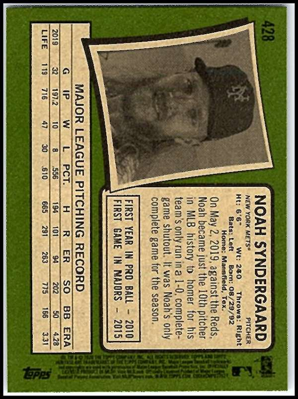 thumbnail 335 - 2020 Topps Heritage MLB Baseball Trading Cards Pick From List 251-500 W/Rookies