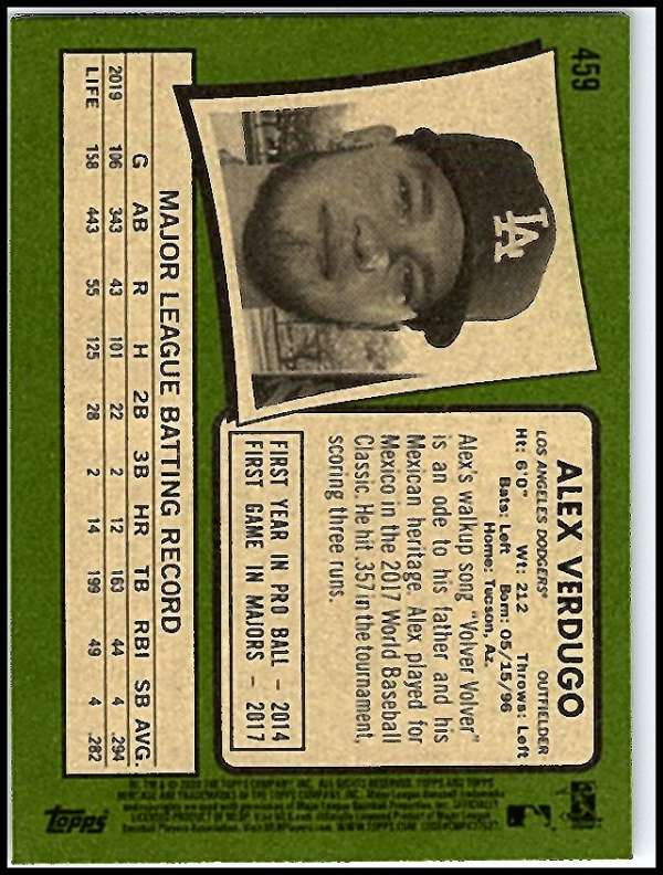 thumbnail 377 - 2020 Topps Heritage MLB Baseball Trading Cards Pick From List 251-500 W/Rookies