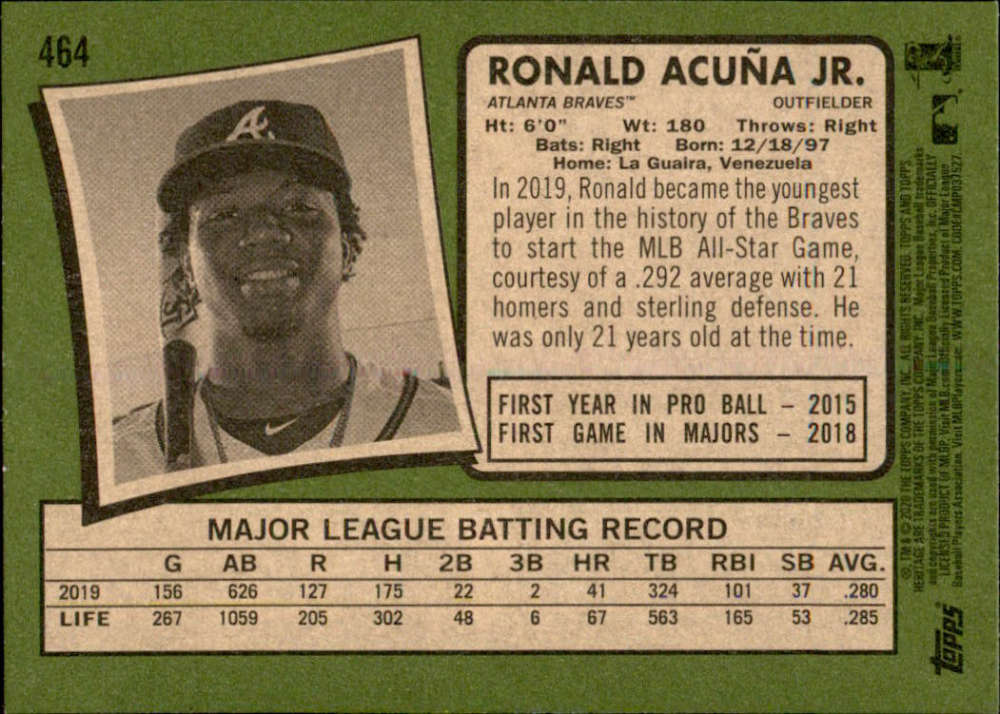 thumbnail 385 - 2020 Topps Heritage MLB Baseball Trading Cards Pick From List 251-500 W/Rookies