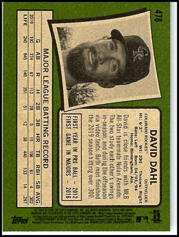thumbnail 407 - 2020 Topps Heritage MLB Baseball Trading Cards Pick From List 251-500 W/Rookies