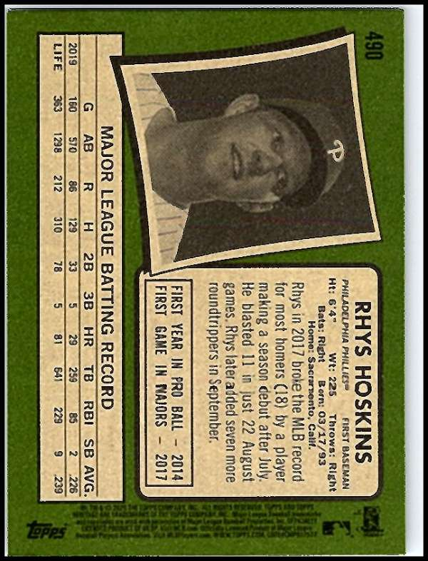 thumbnail 421 - 2020 Topps Heritage MLB Baseball Trading Cards Pick From List 251-500 W/Rookies