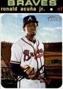 2020 Topps Heritage #464 Ronald Acuna Jr. Atlanta Braves (SP - Short Print) NM-MT MLB