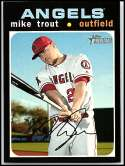 2020 Topps Heritage #466 Mike Trout Los Angeles Angels (SP - Short Print) NM-MT MLB
