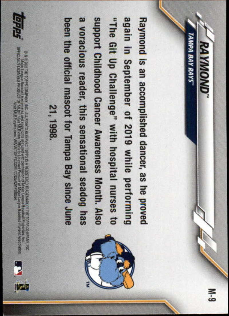 2020-Topps-Opening-Day-Mascots-Baseball-Card-Singles-Complete-Your-Set-You-Pick miniature 15