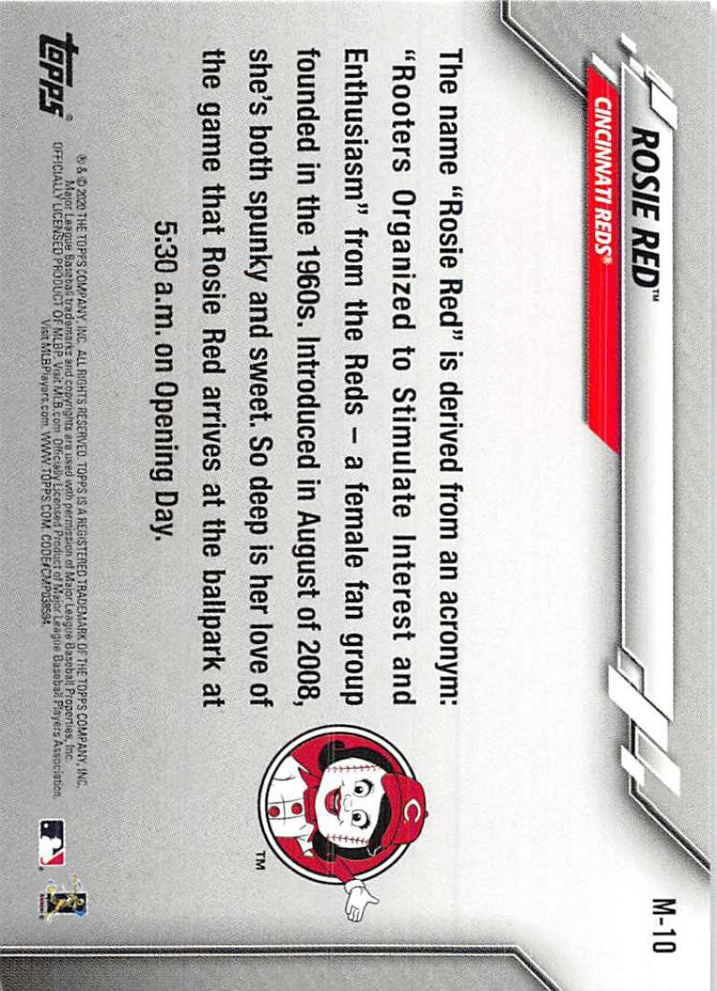 2020-Topps-Opening-Day-Mascots-Baseball-Card-Singles-Complete-Your-Set-You-Pick miniature 17