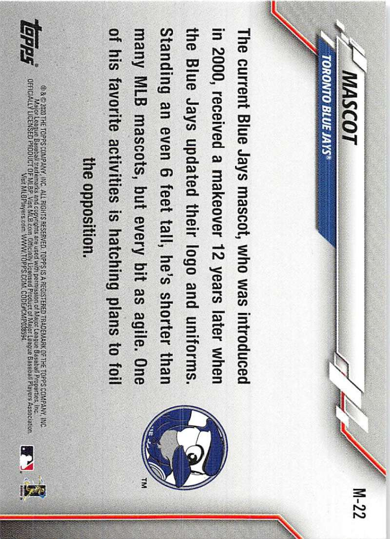 2020-Topps-Opening-Day-Mascots-Baseball-Card-Singles-Complete-Your-Set-You-Pick miniature 35