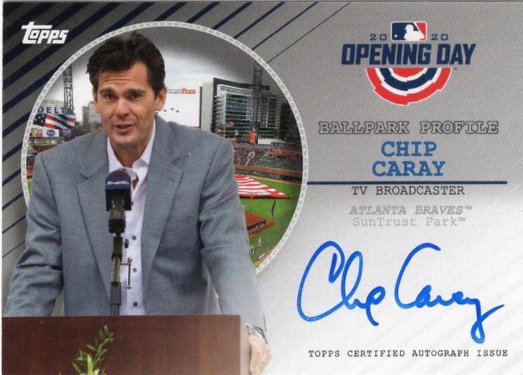 2020 Topps Opening Day Ballpark Profile Autographs