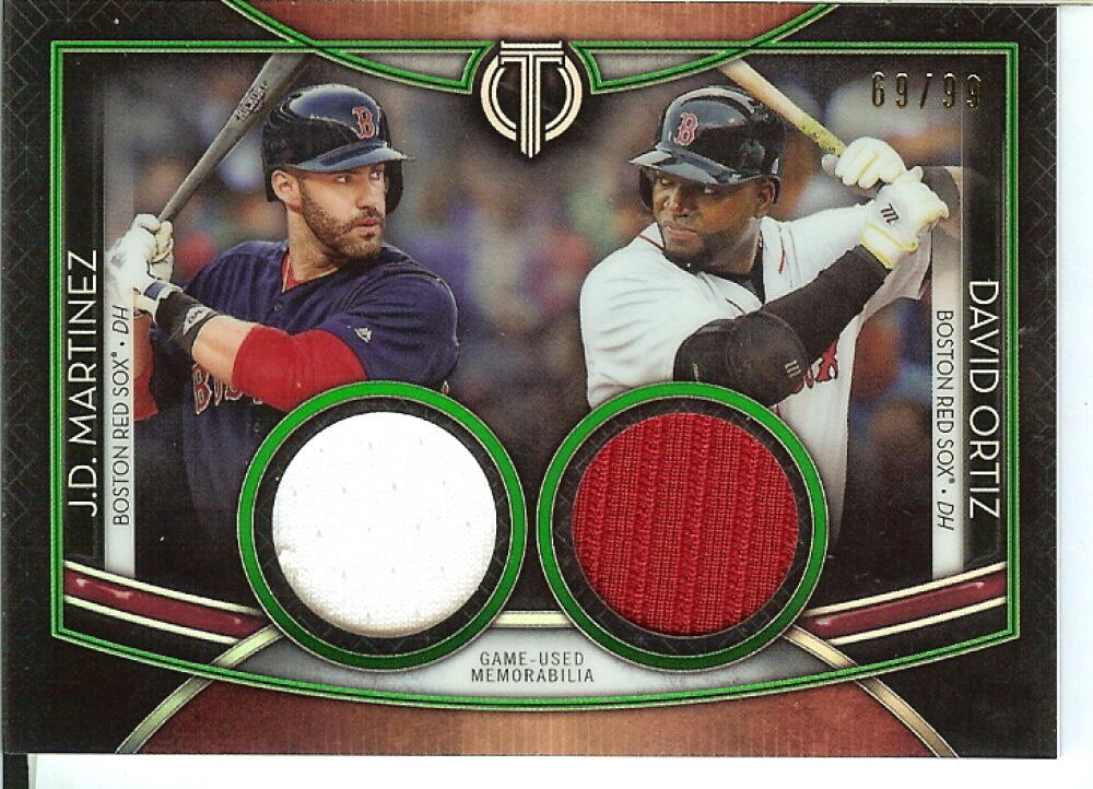 2020 Topps Tribute Dual Player Relics Green