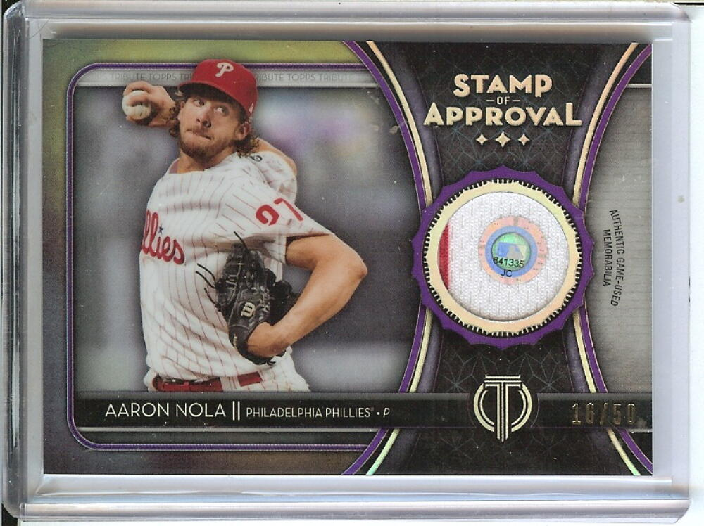 2020 Topps Tribute Stamp of Approval Relics Purple