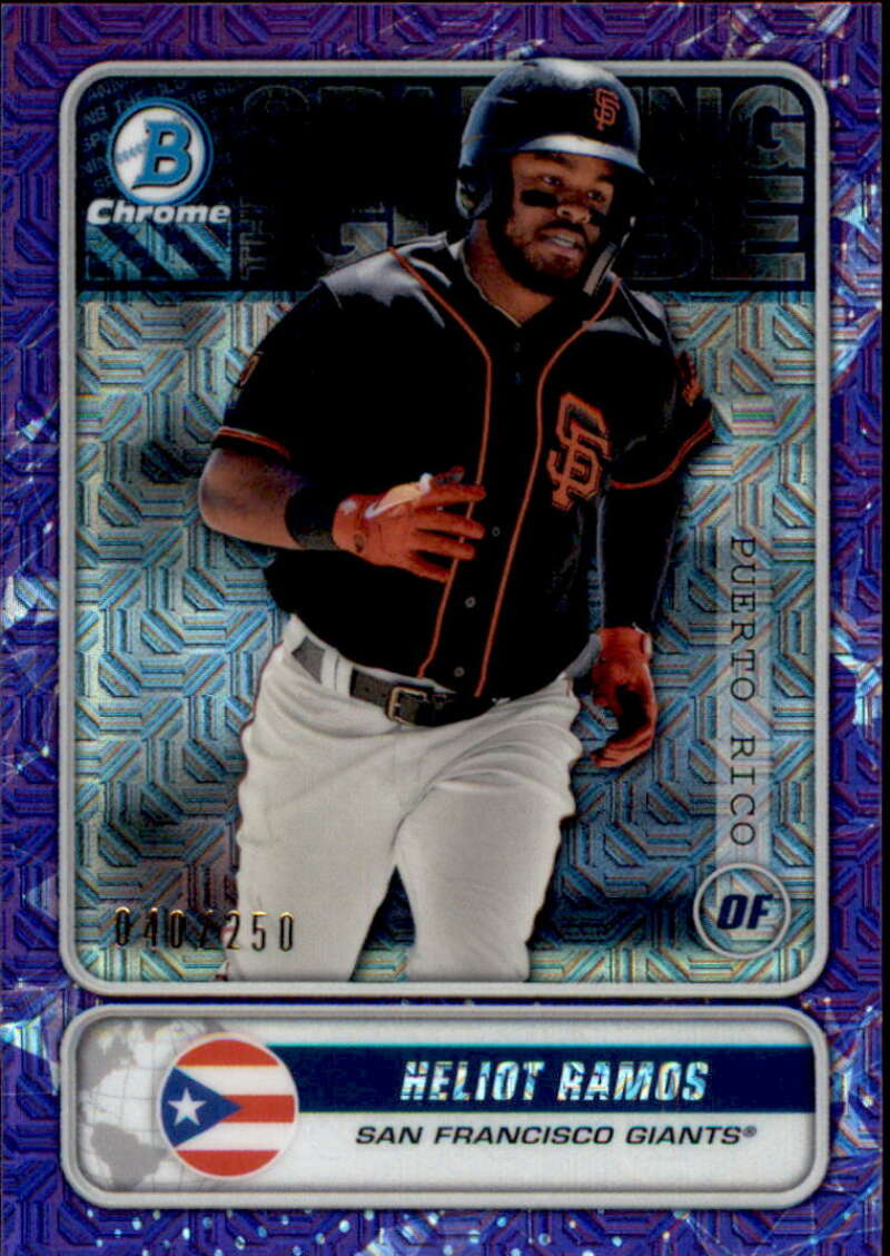 2020 Bowman Mega Box Chrome Mojo Spanning the Globes Refractors Purple
