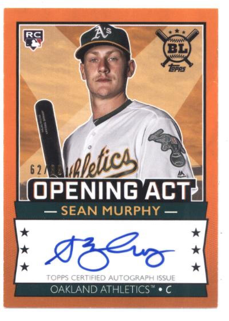 2020 Topps Big League Opening Act Autographs Orange