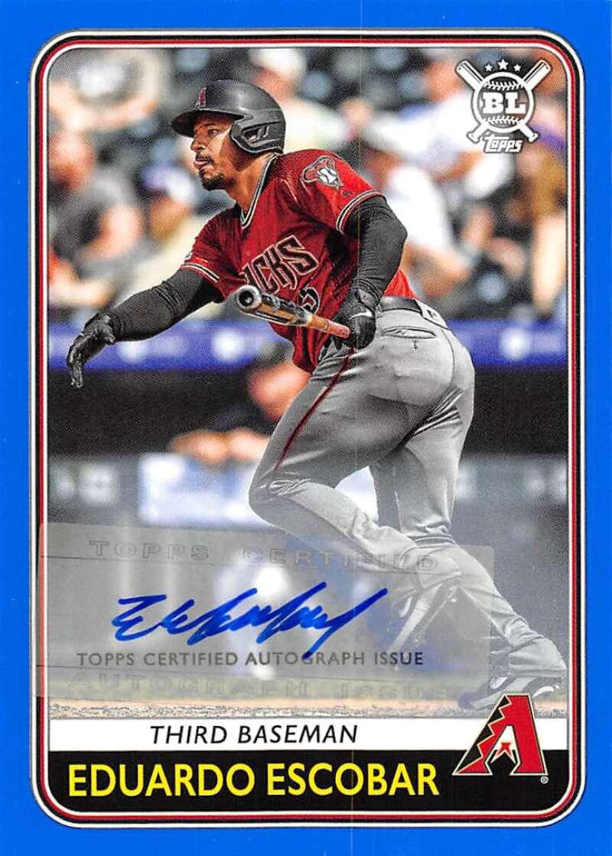 2020 Topps Big League Base Autographs Blue