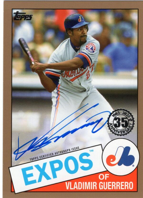 2020 Topps  1985 35th Anniversary Autographs Series 2 Gold