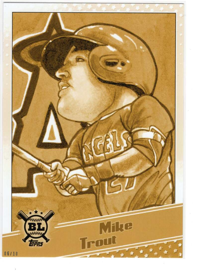 2020 Topps Big League Star Caricature Reproductions 5x7 Gold