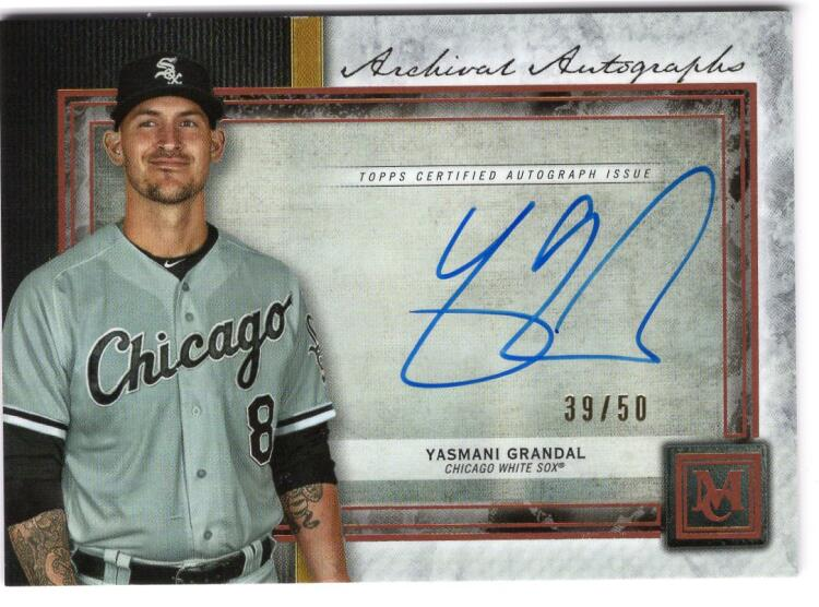 2020 Topps Museum Archival Autographs Copper