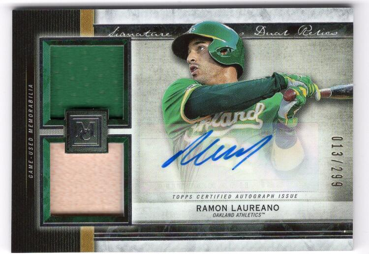 2020 Topps Museum Single-Player Signature Swatches Dual Relic Autograph