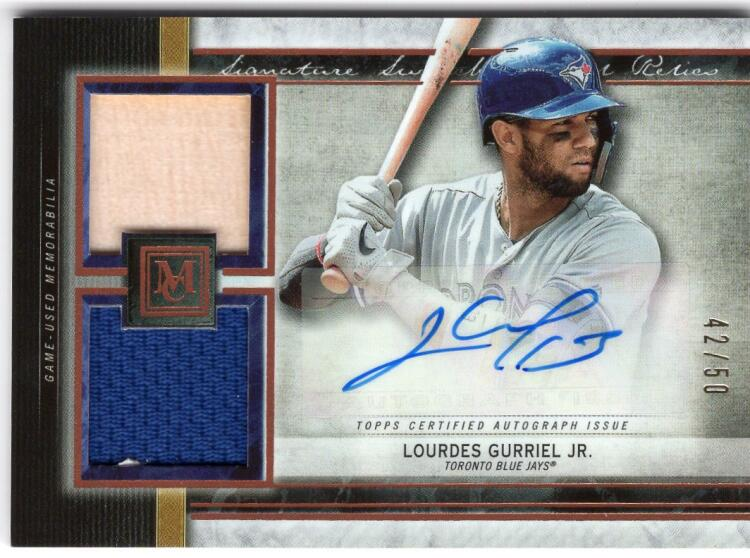 2020 Topps Museum Single-Player Signature Swatches Dual Relic Autograph Cooper