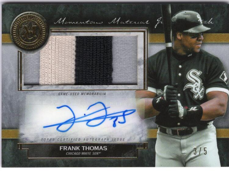 2020 Topps Museum Momentous Material Jumbo Patch Autographs Gold